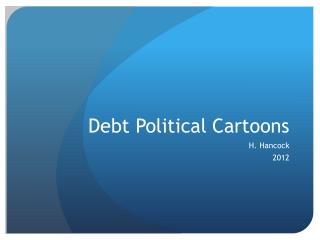 Debt Political Cartoons