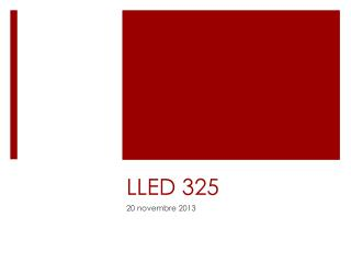 LLED 325