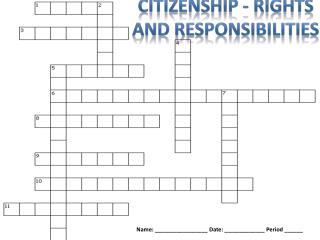 Citizenship -  Rights  And  responsibilities