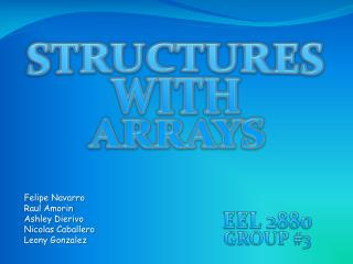 STRUCTURES  WITH  ARRAYS