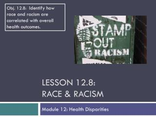 Lesson  12.8: Race & Racism