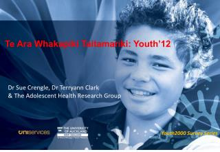 Te Ara Whakapiki Taitamariki: Youth'12