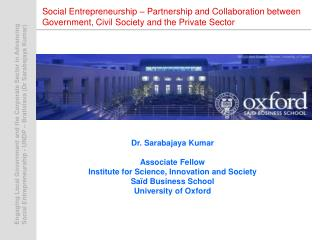 Social Entrepreneurship   Partnership and Collaboration between Government, Civil Society and the Private Sector