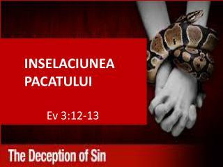 INSELACIUNEA  PACATULUI  Ev  3:12-13