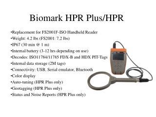 Biomark HPR Plus/HPR