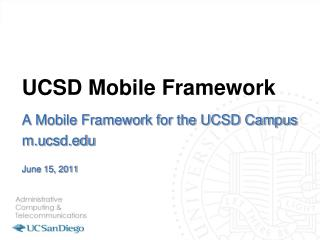 UCSD Mobile Framework