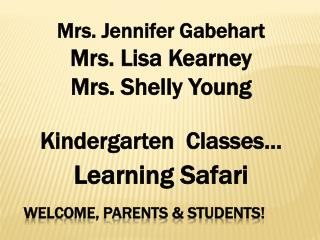 Welcome, Parents & Students!
