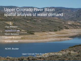 Upper Colorado River Basin spatial analysis of water demand