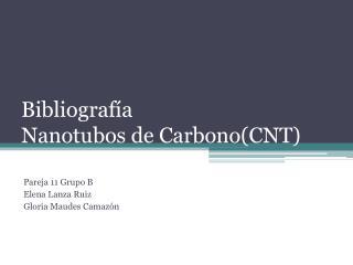 Bibliografía Nanotubos de Carbono(CNT)