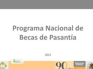 Programa Nacional de Becas de Pasantía