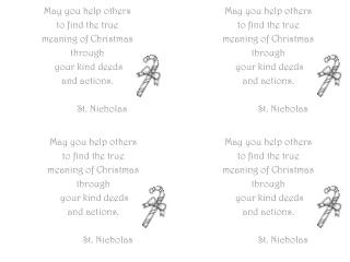May you help others  to find the true  m eaning of Christmas t hrough  your kind deeds