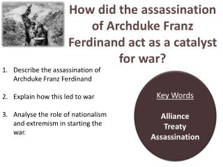 How did the assassination of Archduke Franz Ferdinand act as a catalyst for war?