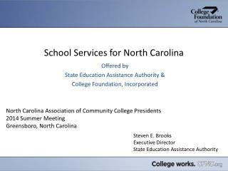 School Services for North Carolina