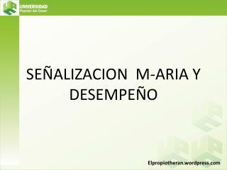 SEÑALIZACION  M-ARIA Y DESEMPEÑO