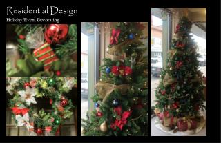 Residential Design Holiday/Event Decorating
