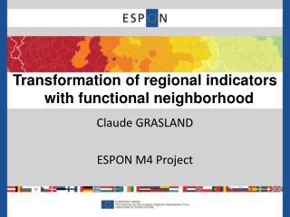 Claude GRASLAND ESPON M4 Project