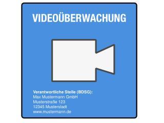 Verantwortliche Stelle (BDSG): Max Mustermann GmbH Musterstraße 123 12345  Musterstadt