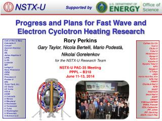 Progress and Plans for Fast Wave and Electron Cyclotron Heating Research