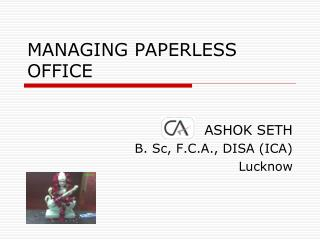 MANAGING PAPERLESS OFFICE
