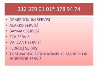 ÜMİTKÖY SERVİSİ* 378 9 474 * ümitköy demirdöküm servisi