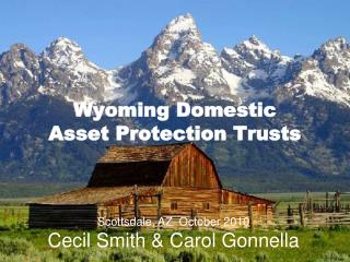 Wyoming Domestic  Asset Protection Trusts