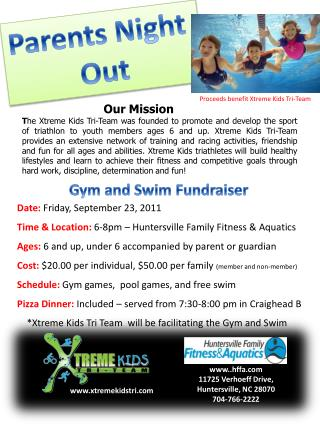 Gym and Swim Fundraiser
