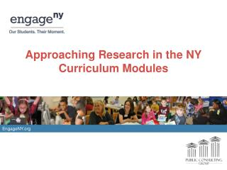 Approaching Research in the NY Curriculum Modules