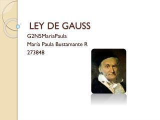 LEY DE GAUSS