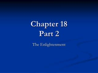 Chapter 18 Part 2