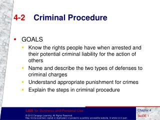 4-2	 Criminal Procedure