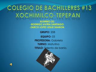 COLEGIO DE BACHILLERES #13