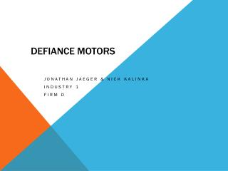 Defiance motors