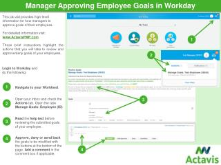 Manager  Approving Employee Goals in  Workday