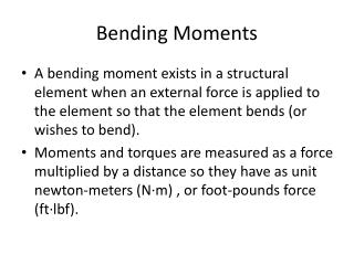 Bending Moments