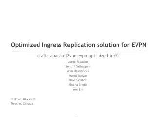 Optimized Ingress Replication solution for EVPN