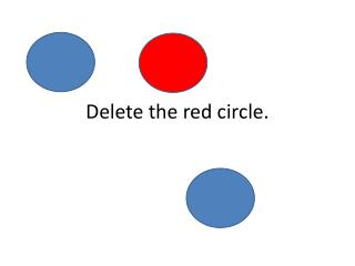 Delete the red circle.