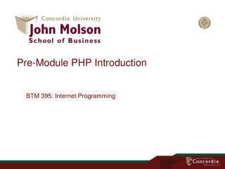 Pre -Module PHP Introduction