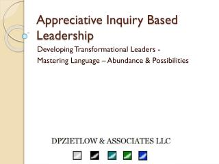 Appreciative Inquiry Based Leadership