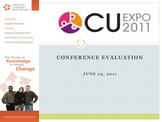Conference Evaluation June  23,  2011