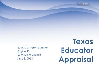 Texas  Educator Appraisal