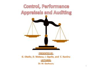 Control, Performance Appraisals and Auditing