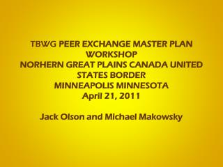 Peer Exchange Master Plan Workshop