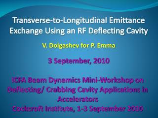 Transverse-to-Longitudinal Emittance Exchange Using an RF Deflecting Cavity