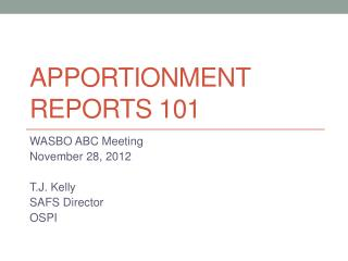 Apportionment Reports 101