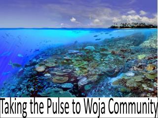 Taking the Pulse to Woja Community