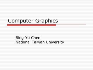 Computer Graphics