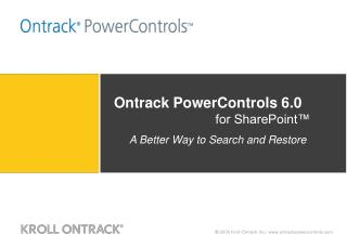 Ontrack PowerControls  6.0 for SharePoint™
