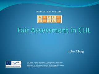 Fair Assessment in CLIL