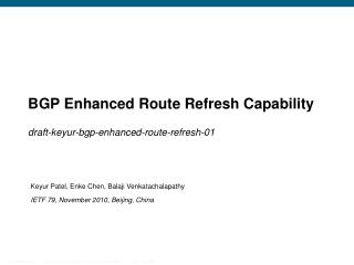 BGP  Enhanced Route Refresh Capability