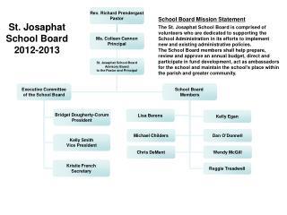 St.  Josaphat  School Board 2012-2013